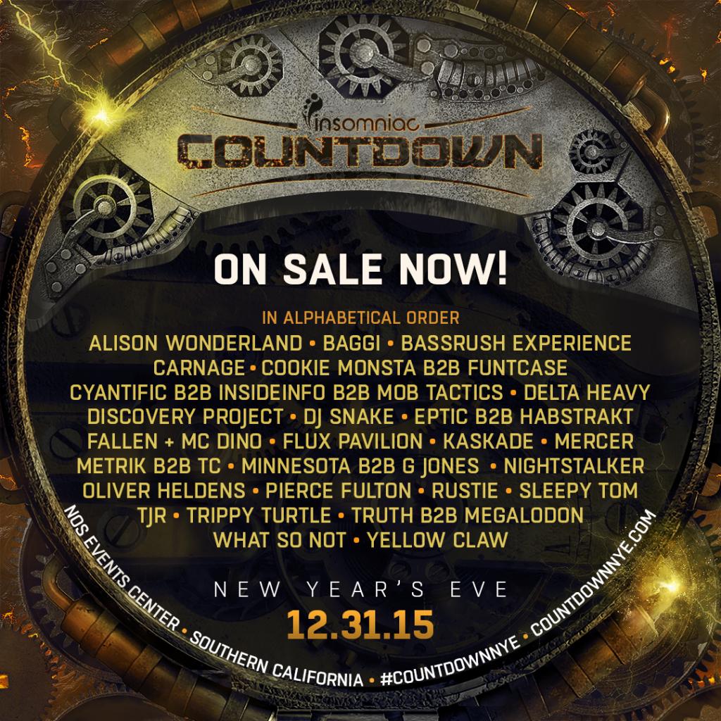Countdown NYE 2015 Lineup