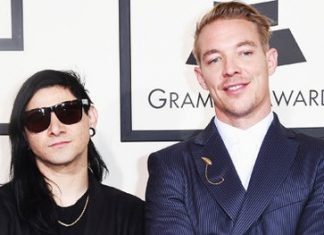 Skrillex and Diplo at the Grammy Awards 2016
