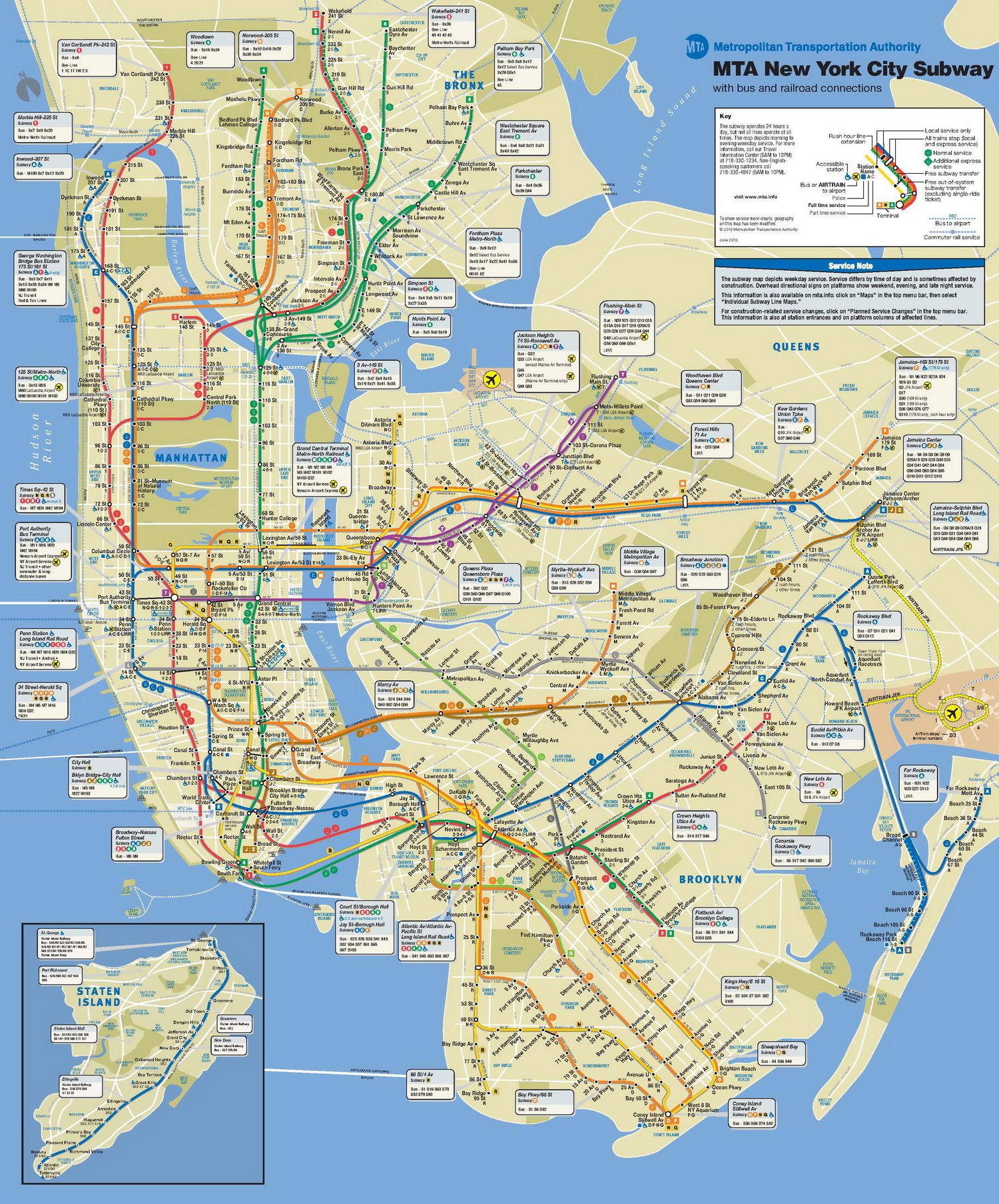 Ny York Subway Map.New York City Subway Map Large Edm Identity