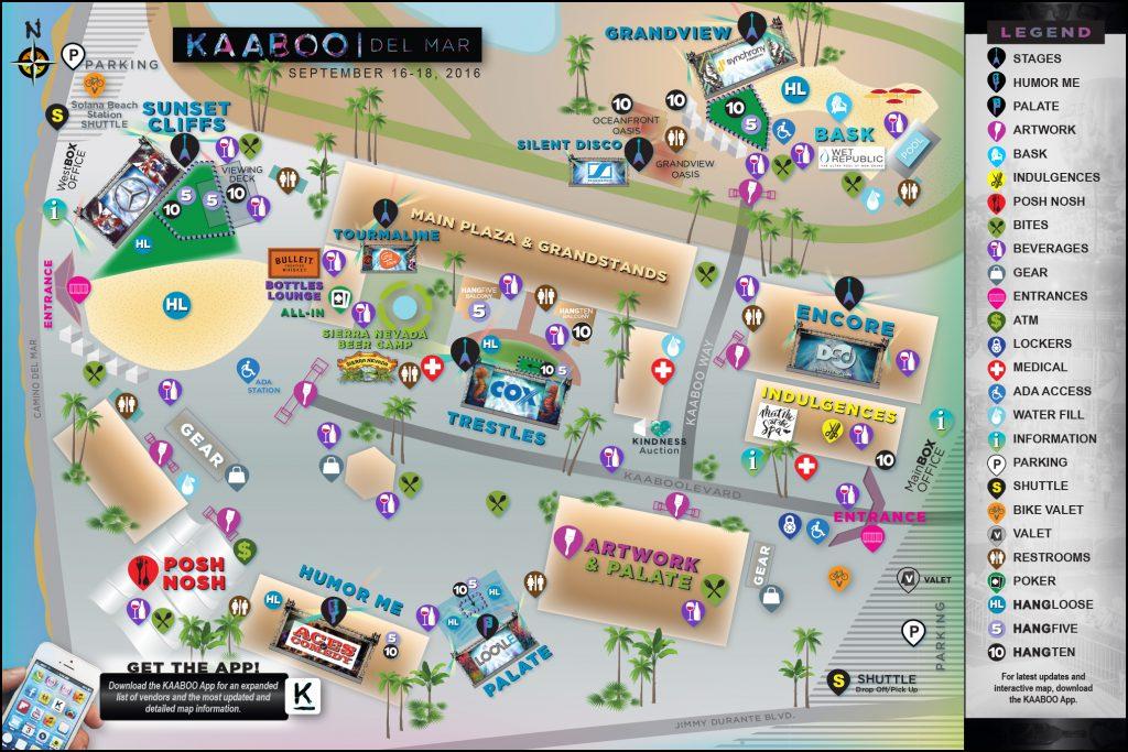 KAABOO 2016 Map