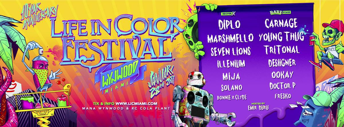 life in color miami 2017 lineup event preview edm. Black Bedroom Furniture Sets. Home Design Ideas