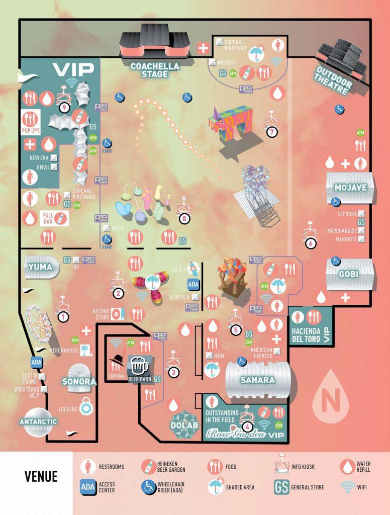 Coachella 2017 Festival Map