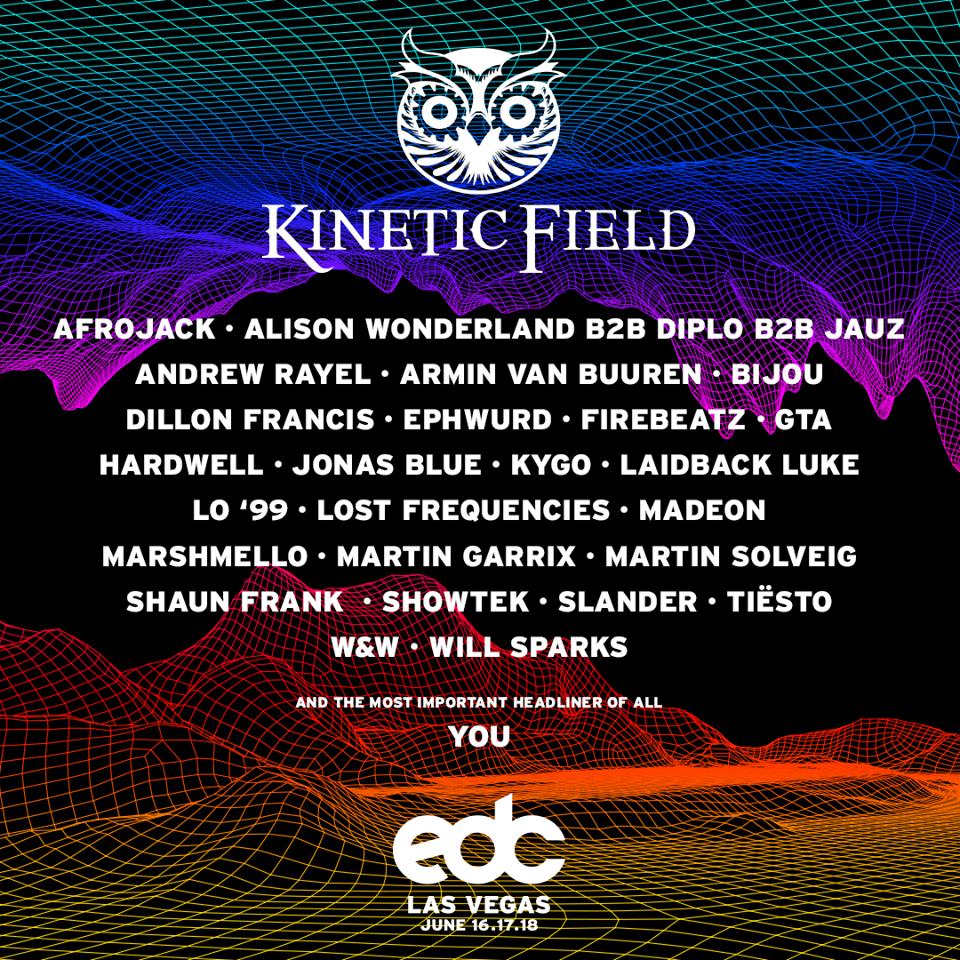 Edc Las Vegas 2017 Lineup Kineticfield Edm Identity