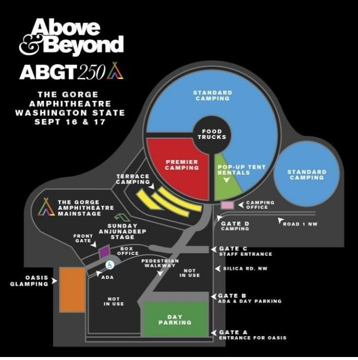 Above & Beyond Group Therapy 250 Event Map