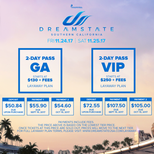 Dreamstate SoCal 2017 Ticket Info