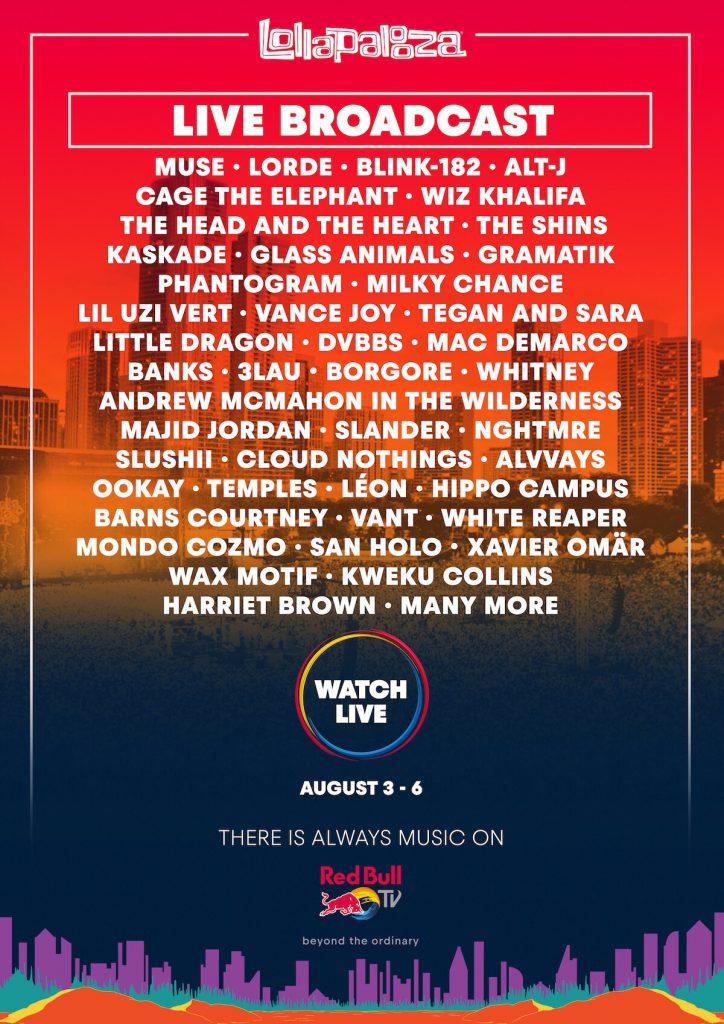 Lollapalooza 2017 Livestream Artists