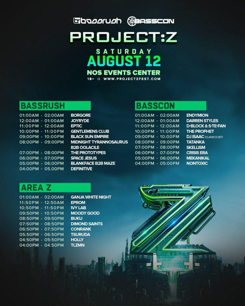 Project Z Set Times