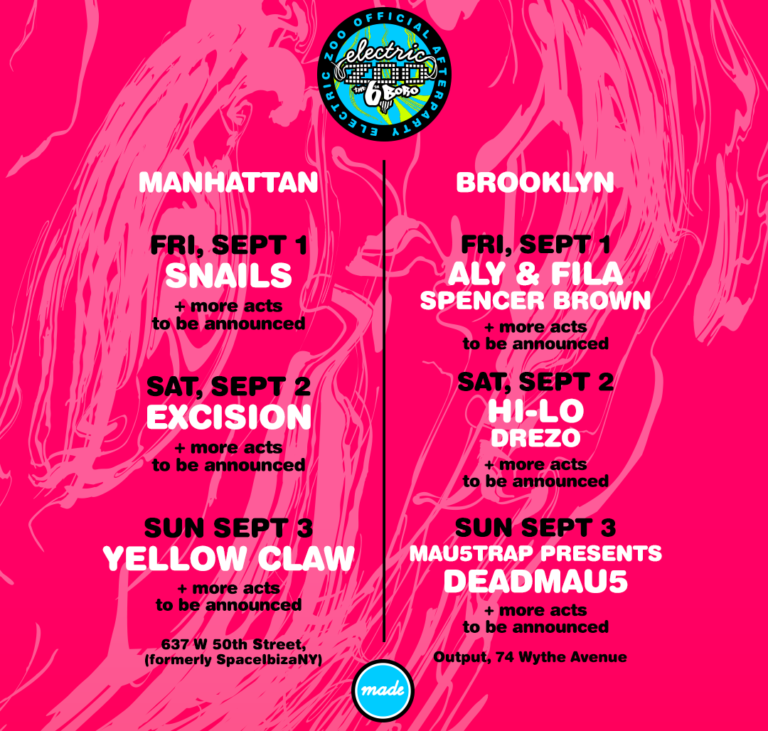 Electric Zoo After Party 2017 Lineup