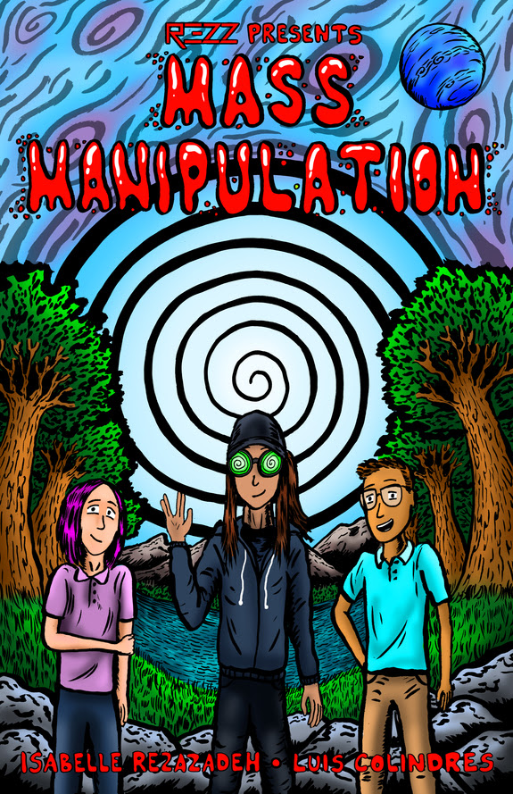 REZZ Mass Manipulation Comic Book Art