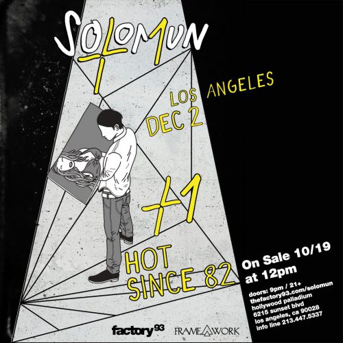 Factory 93 x Framework Solomun Hot Since 82 Flyer