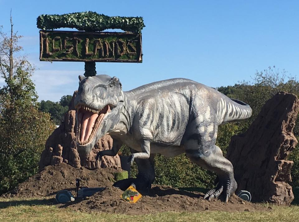 DJ T Rex rave edm music festival dinosaur dino hand fan