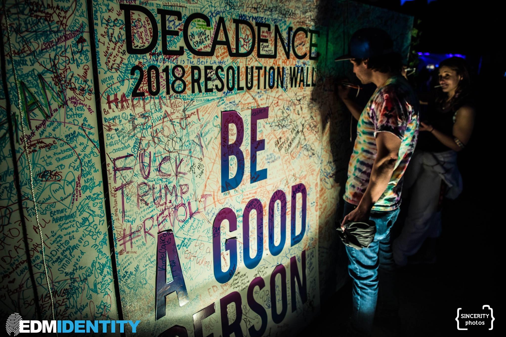 Decadence Colorado Resolution Wall