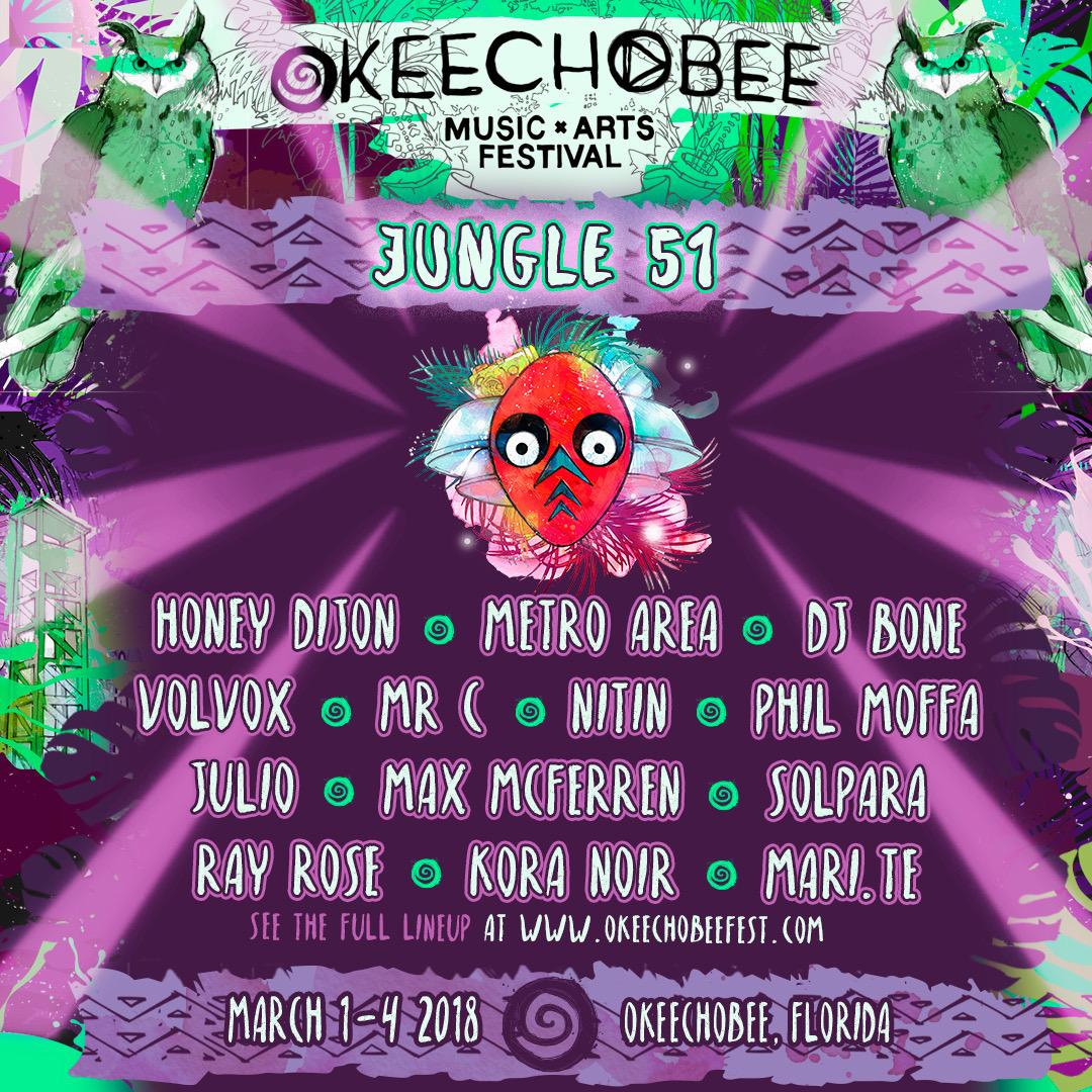 Okeechobee Jungle 51 Lineup
