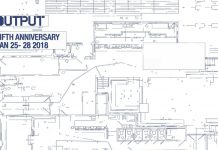 Output Fifth Anniversary White Banner