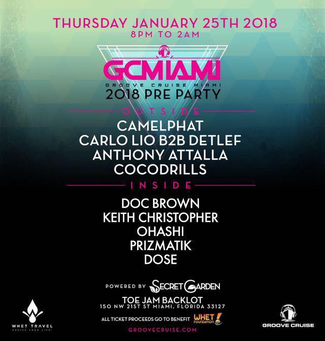 Groove Cruise Miami 2018 Preparty Lineup