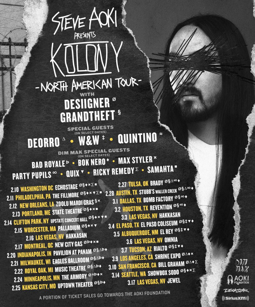 Steve Aoki Kolony Tour 2018