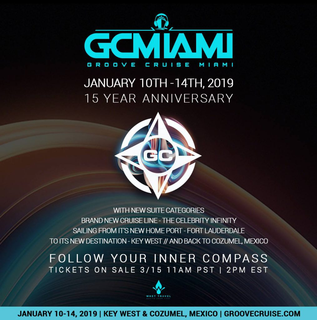 Groove Cruise Miami 2019 Announcement Flyer