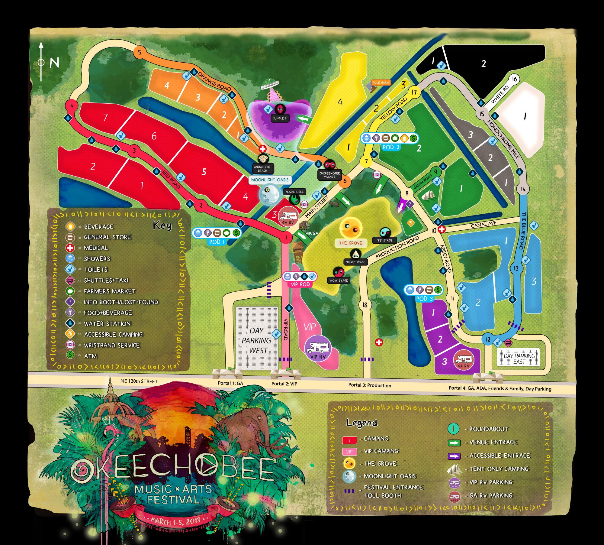 Okeechobee Grove Map