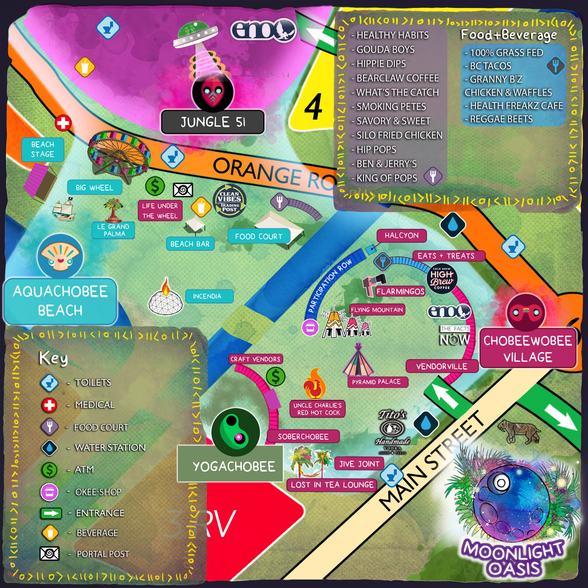 Okeechobee Moonlight Oasis Map