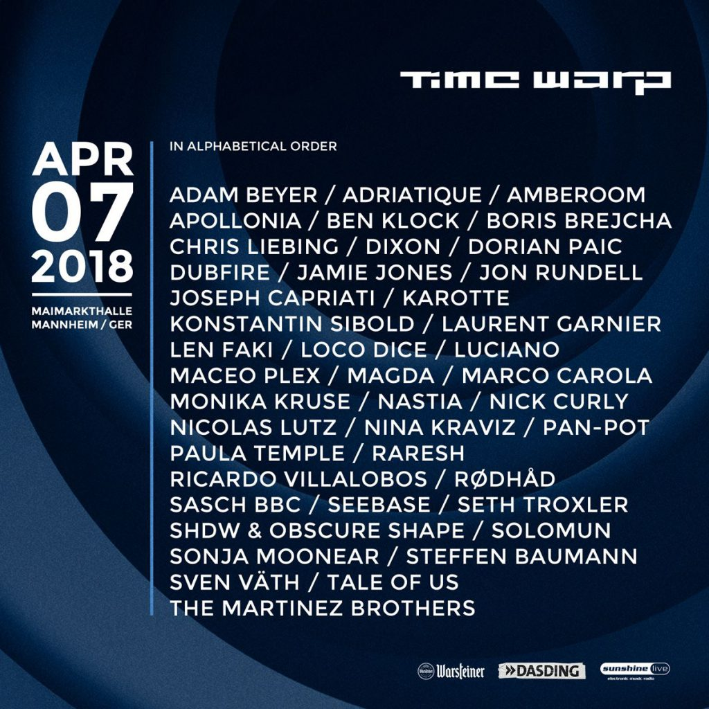 Time Warp 2018 Lineup