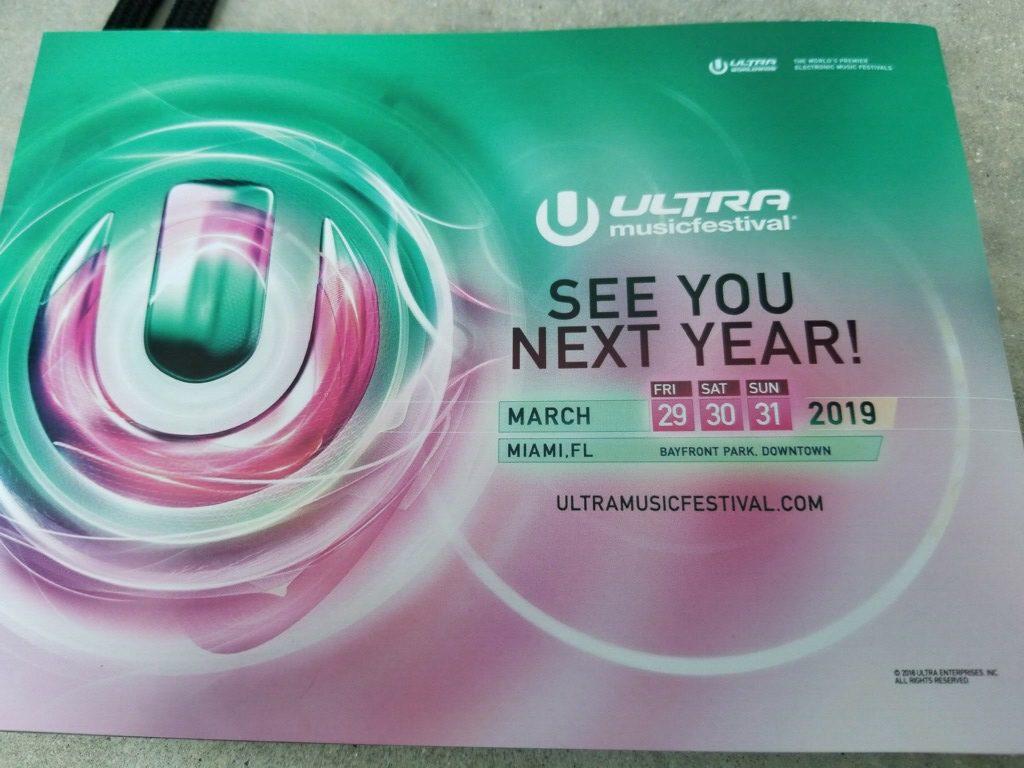 Ultra Music Festival 2019 Dates