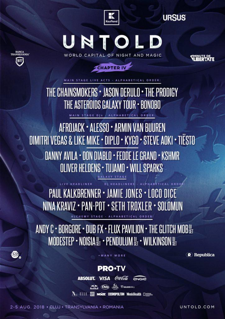 UNTOLD Festival 2018 Full Lineup