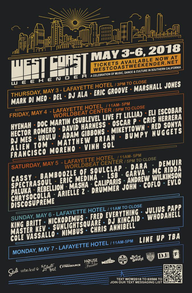 West Coast Weekend 2018 Lineup