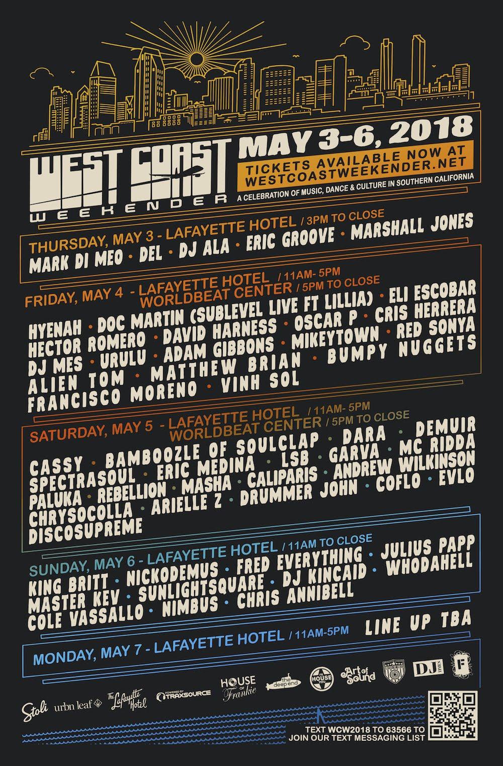 West Coast Weekender 2018 Lineup | EDM Identity