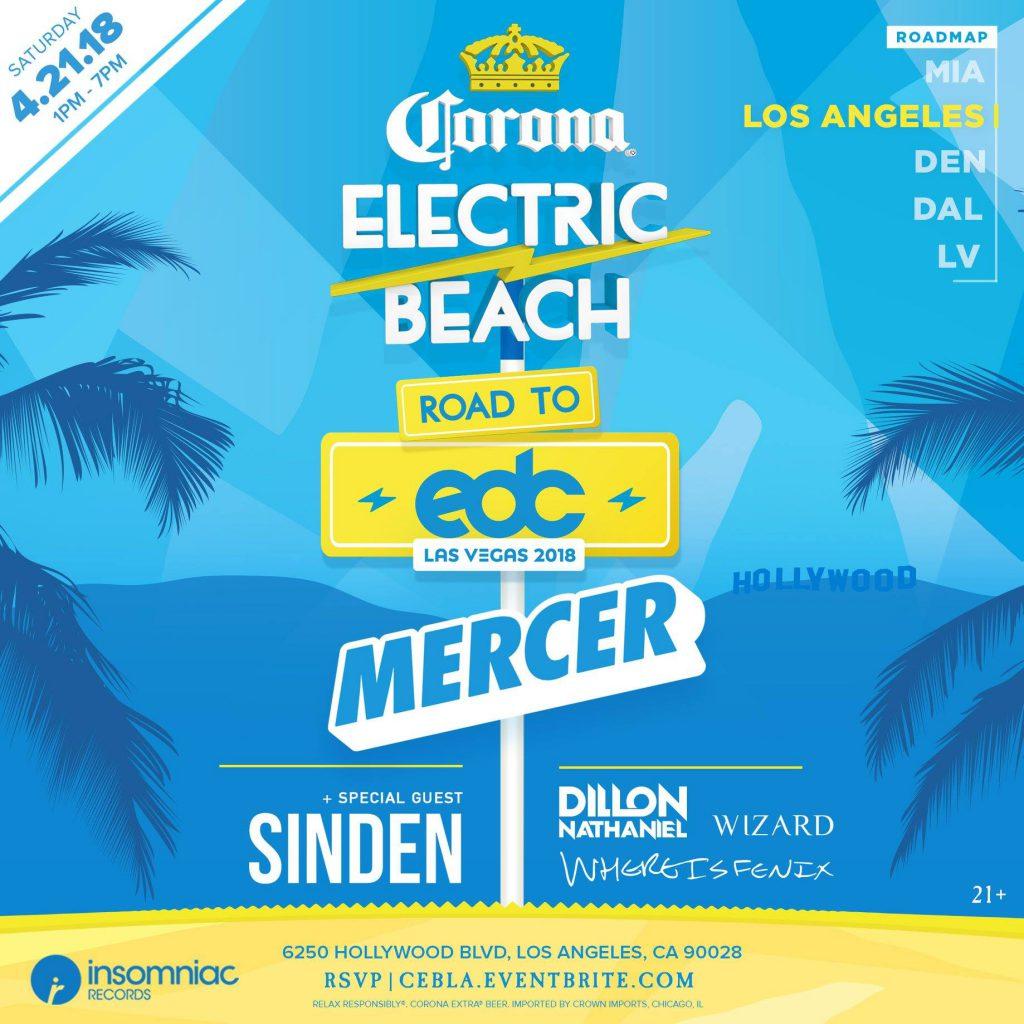 Corona Electric Beach LA 2018 Flyer