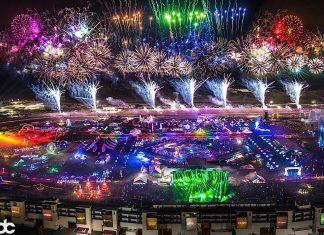 EDC Las Vegas 2017 Aerial View