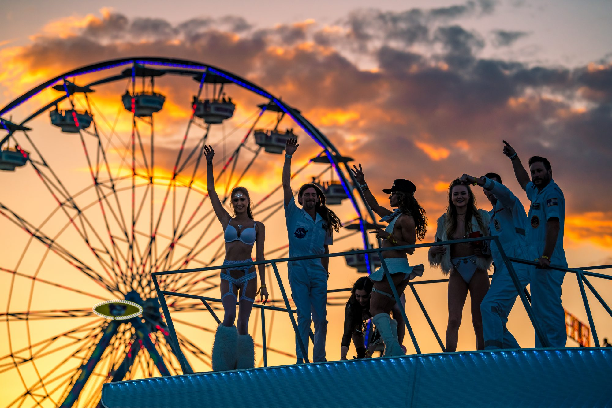 EDC Las Vegas 2018 Ferris Wheel Sunset