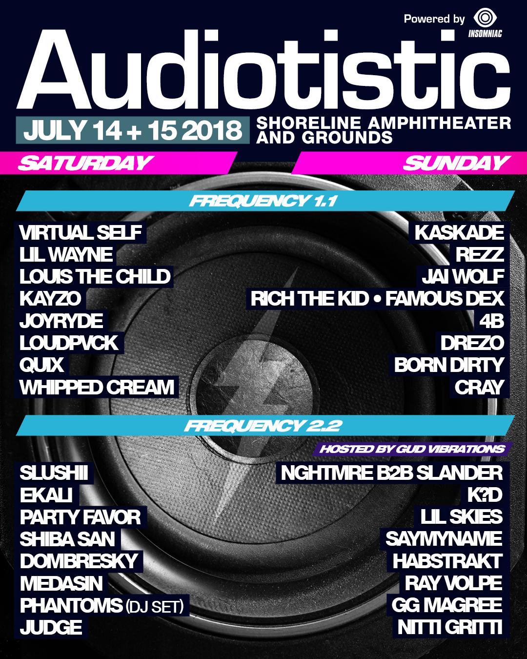 Audiotistic Bay Area 2018 Lineup