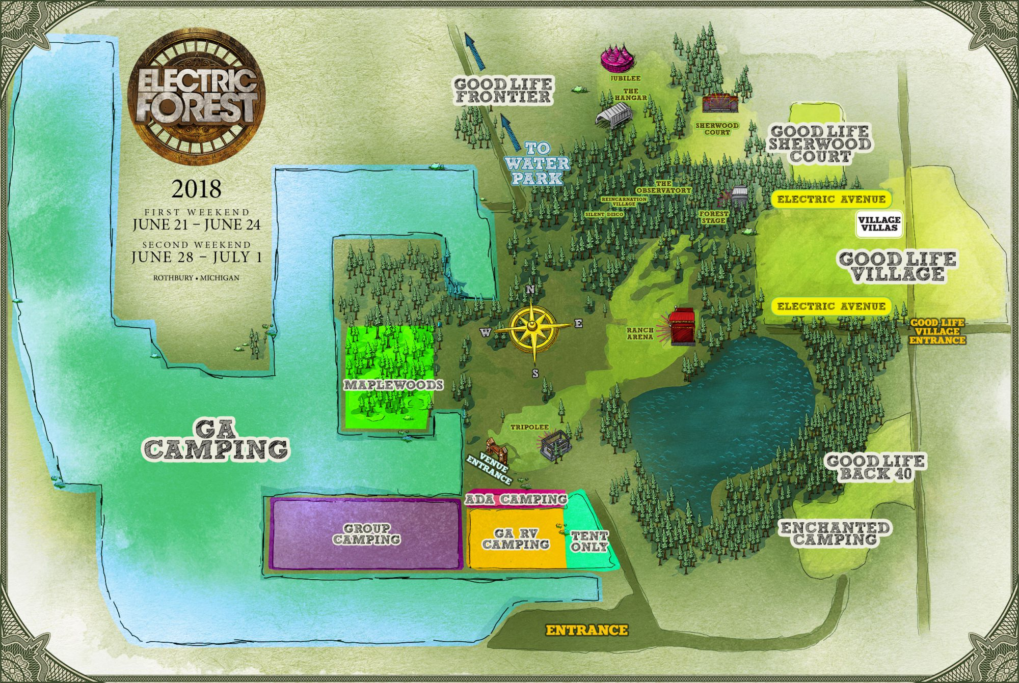 Electric Forest Map Electric Forest 2018 Camping Map | EDM Identity