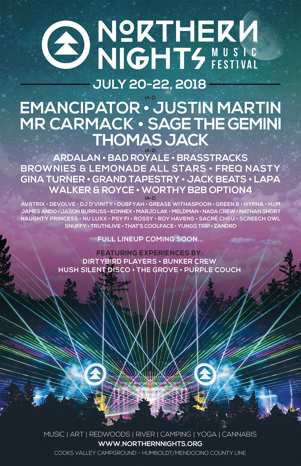 Northern Nights Music Festival 2018 Phase 1 Lineup