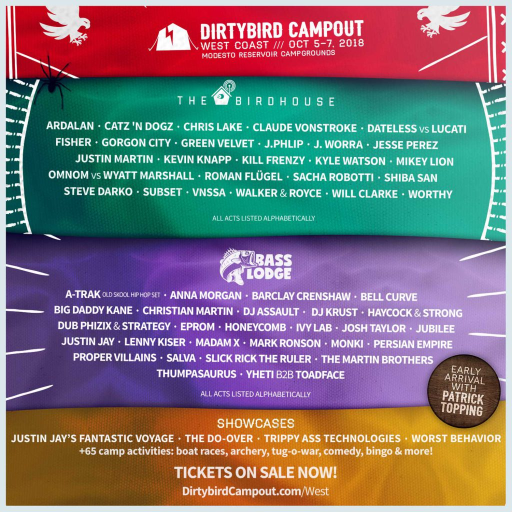Dirtybird Campout West Coast 2018