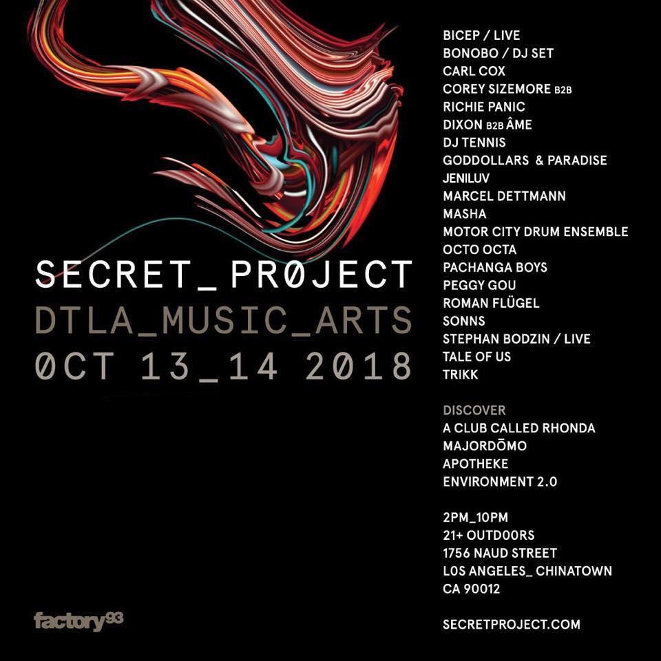 Factory 93 Secret Project 2018 Lineup