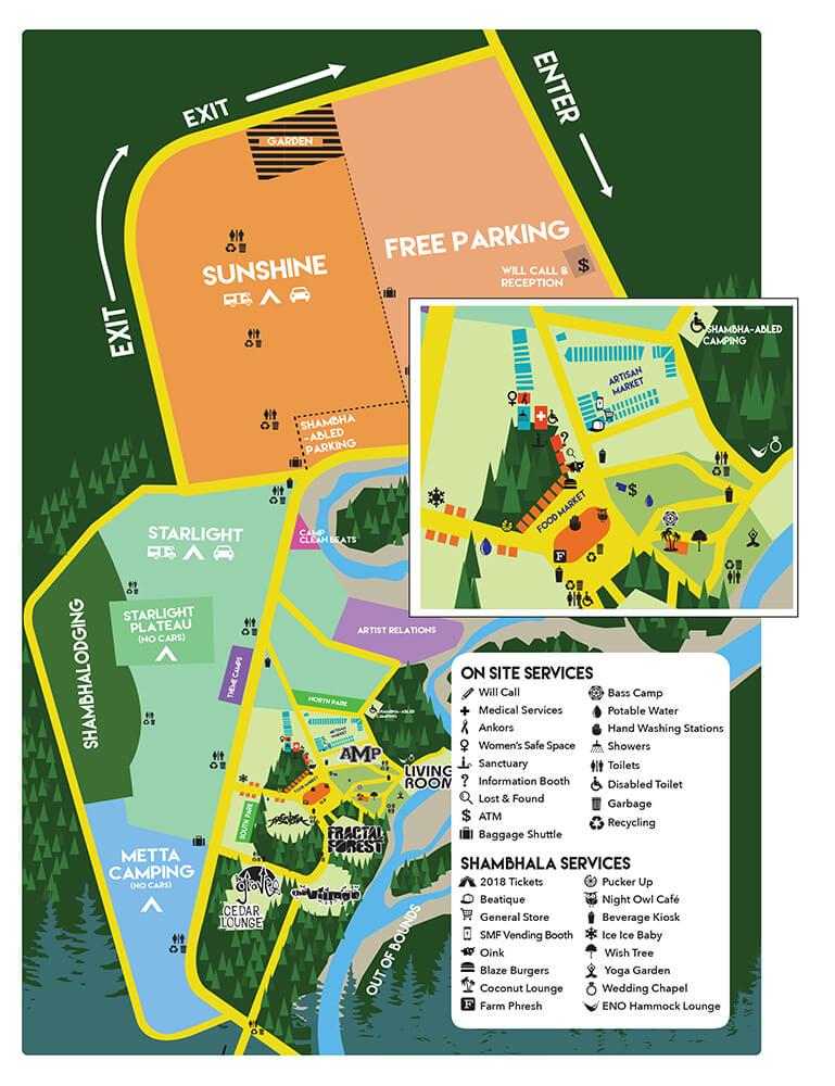 Shambhala Festival Map