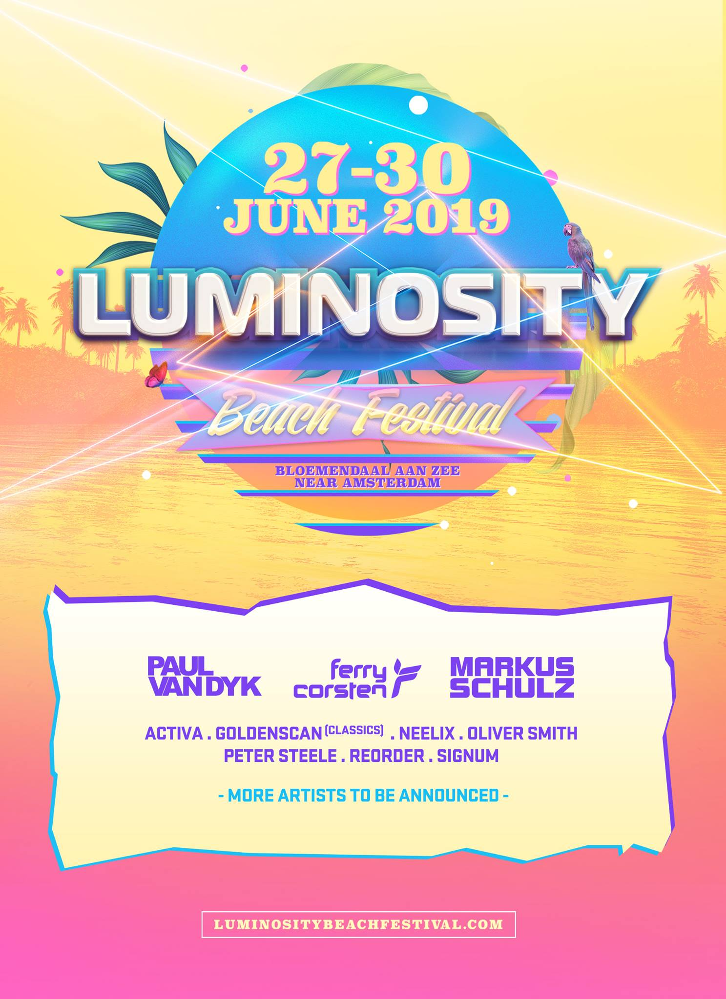 Luminosity Beach Festival 2019 Phase 1 Lineup