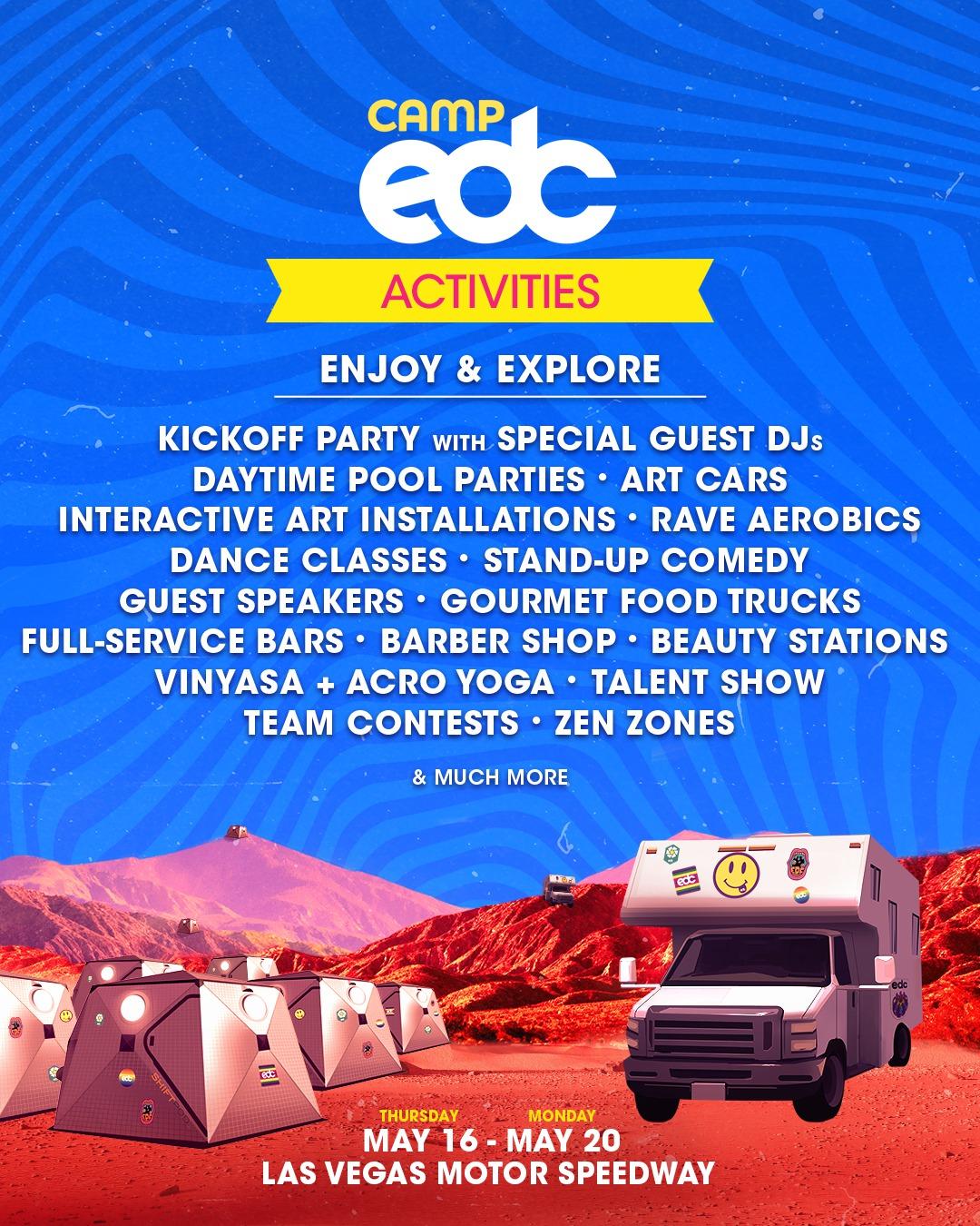 Camp EDC Activities EDC Las Vegas 2019 | EDM Identity