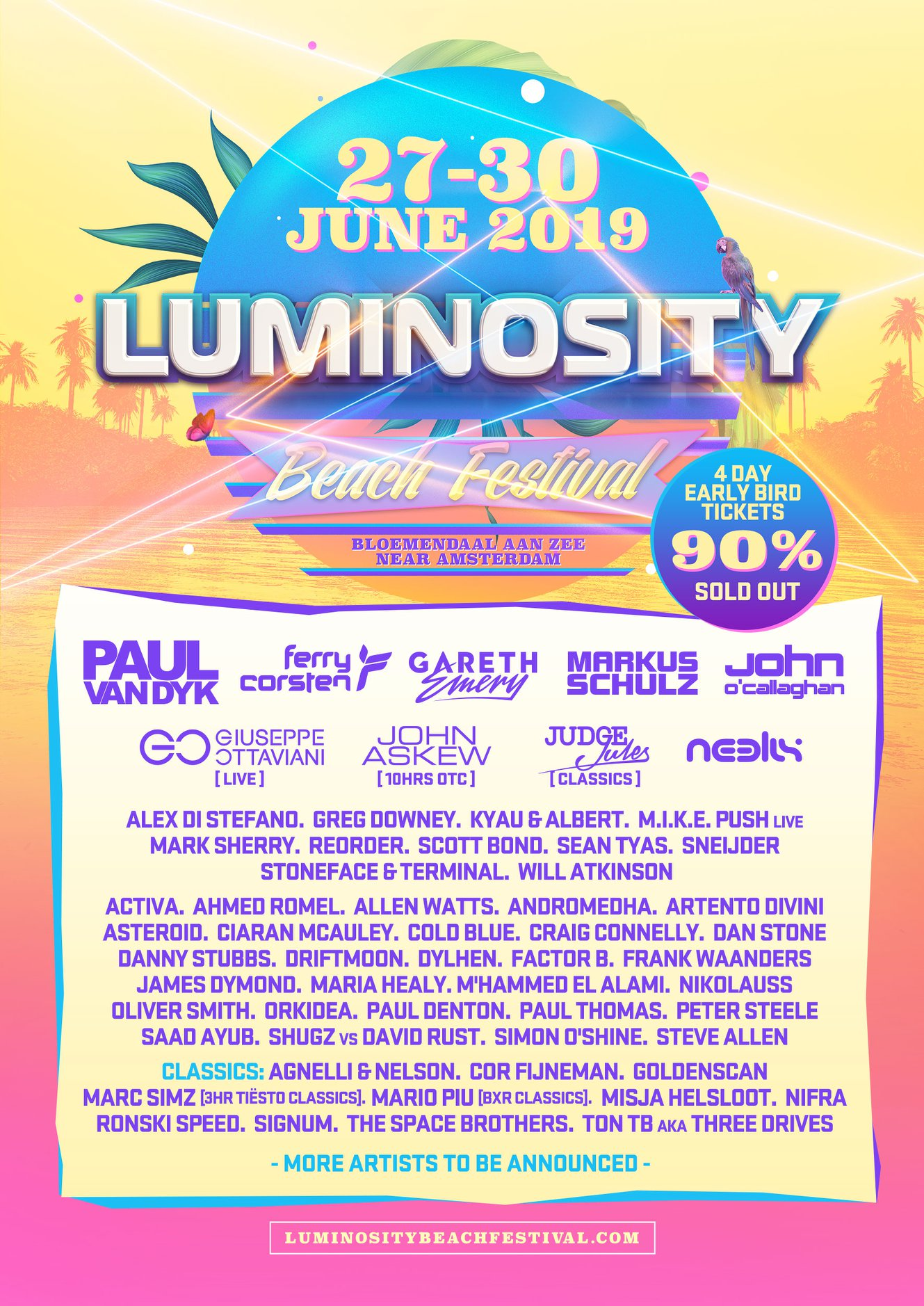 Luminosity Beach Festival 2019 Phase 2 Lineup