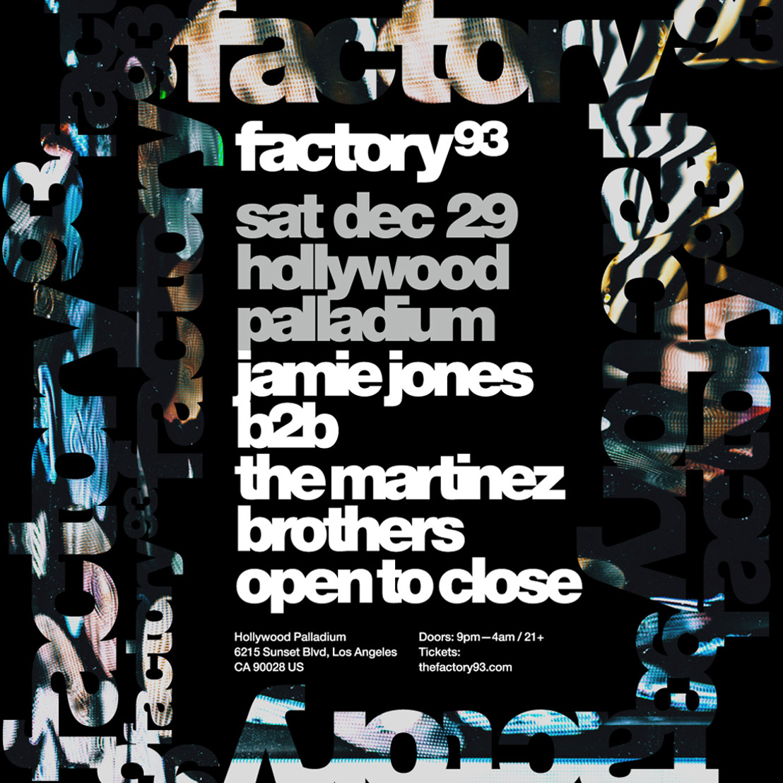 Factory 93 Jamie Jones b2b The Martinez Brothers
