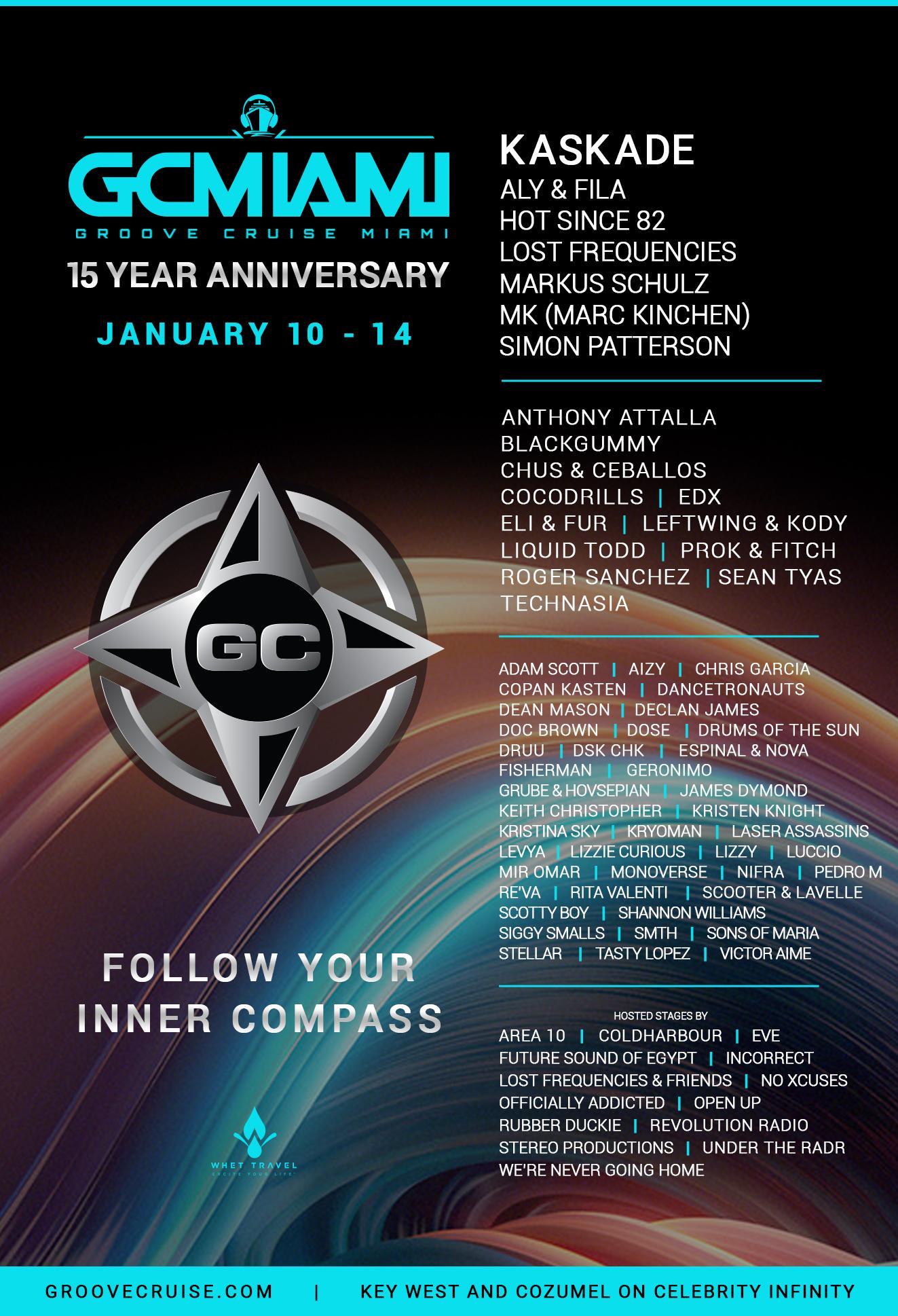 Groove Cruise Miami 2019 Lineup