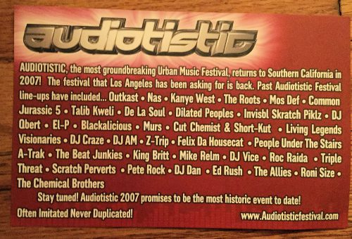 Audiotistic 2007 Flyer