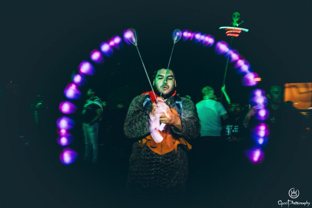 Dreamstate 2018 - LED Poi - Gucci Photography