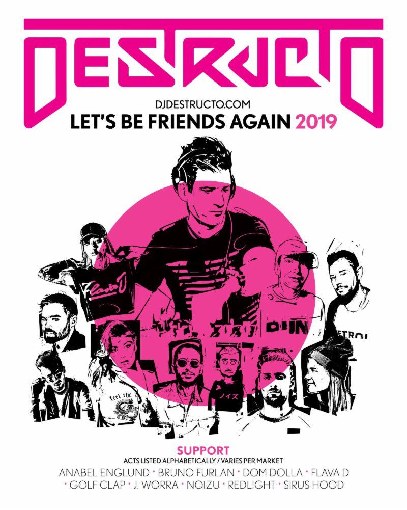 Lets Be Friends Again Tour Flyer
