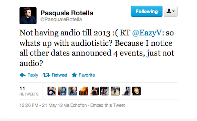 No Audiotistic In 2012 Tweet