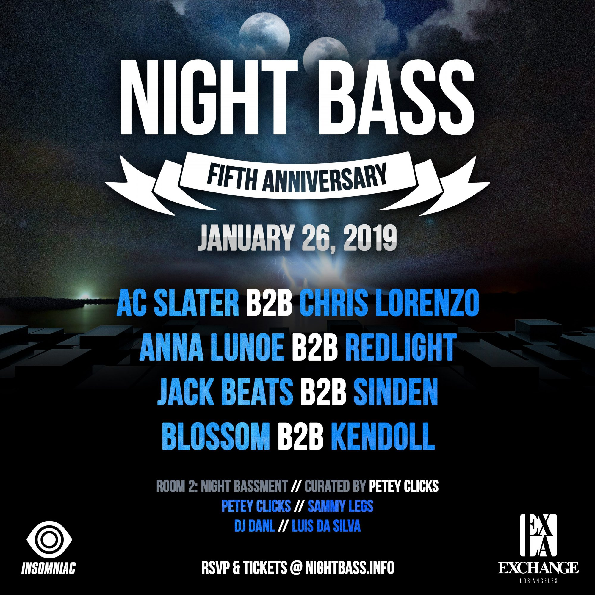 Night Bass 5th Year Anniversary Lineup
