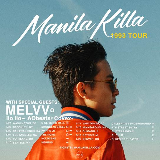 Manila Killa 1993 Tour Flyer