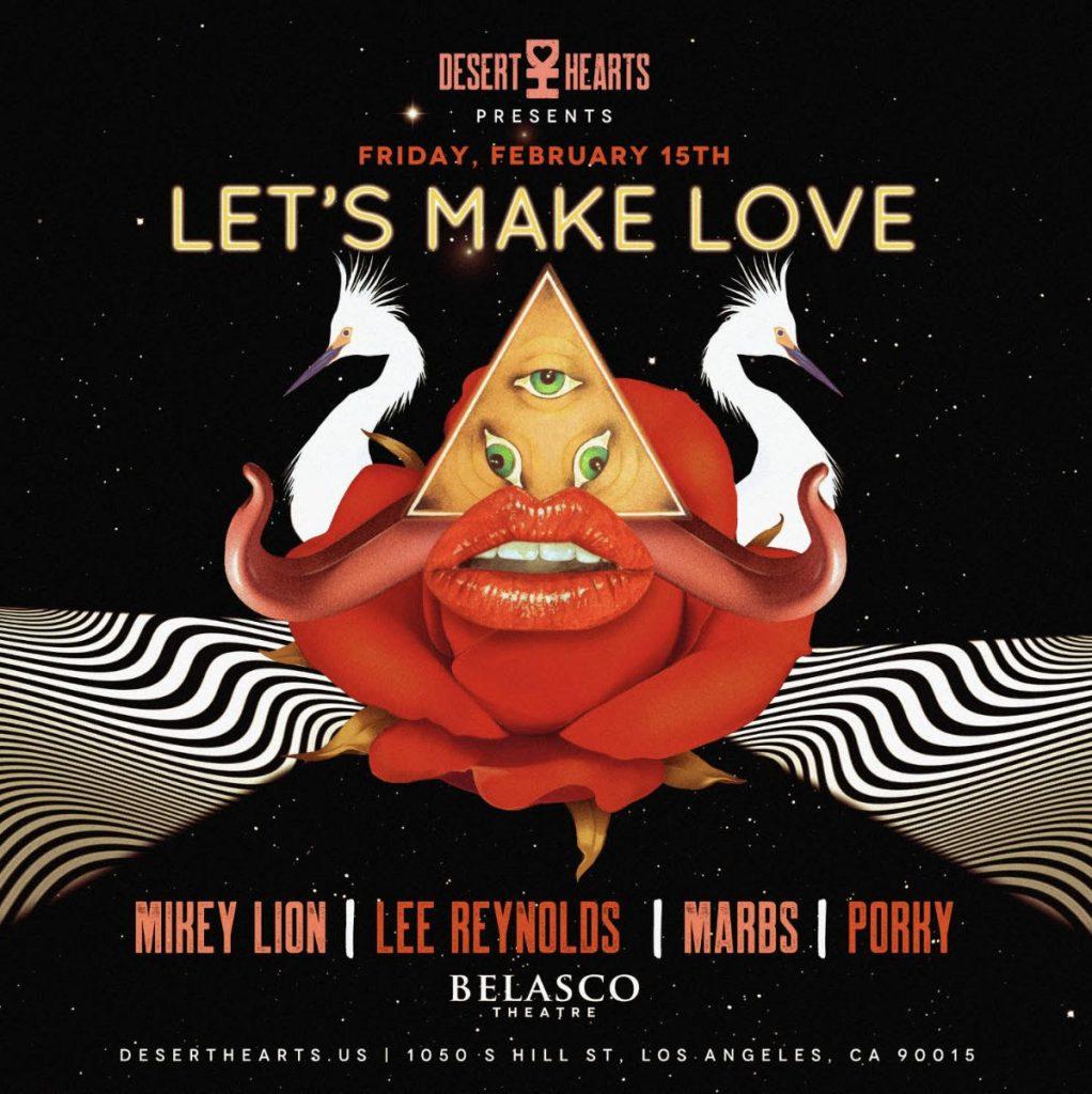 Desert Hearts Let's Make Love Flyer