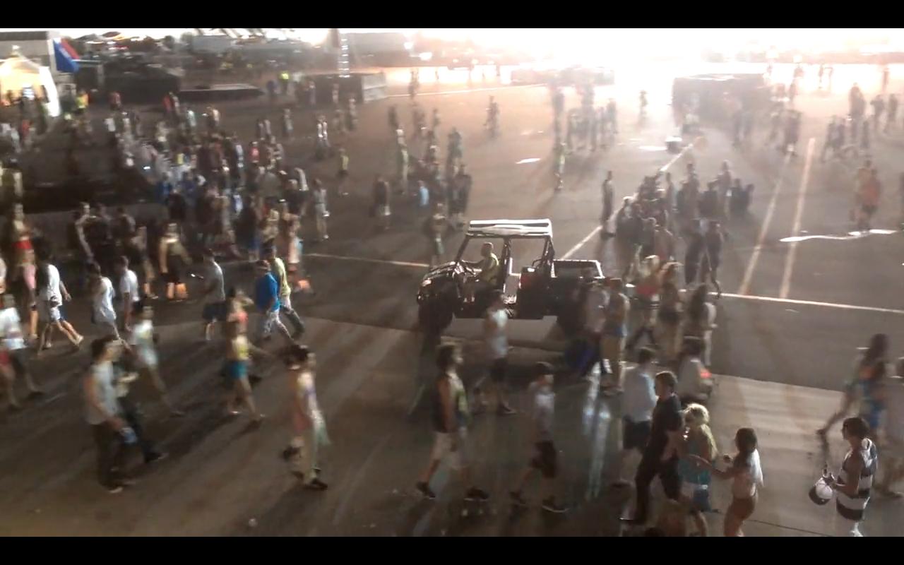 EDC Las Vegas 2012 Evacuates